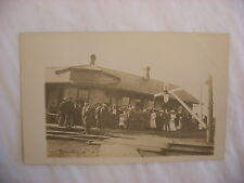 Real Photo Postcard RPPC C&NW Railroad Depot Clinton Wisconsin WI #1259