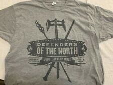 NEW LORD OF THE RINGS WAR IN THE NORTH DEFENDERS T SHIRT XL Gray