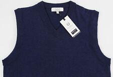 Men's Turnbury Navy Blue Merino Wool Sweater Vest 3xt 3xlt 3lt Tall WOW