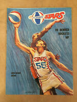 1969-70 ABA DENVER ROCKETS @ LOS ANGELES STARS BASKETBALL PLAYOFF PROGRAM