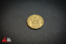 More details for rare 1943 brass three pence coin very good condition fast free uk postage