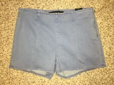 Express Jean Shorts Denim Size 8 High Rise Side Zip Defect NWD see photo