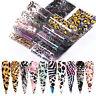 10 Pcs/Set Leopard Nail Foils Nail Art Transfer Stickers Decals Nails Design Dec