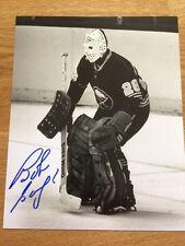 Buffalo Sabres Bob Sauve signed 8x10 W/COA pose 7
