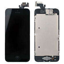 Glass Screen LCD For iphone 5 BLACK Plate home button camera Speaker Full