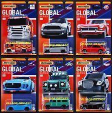 2021 Matchbox Global Series Wave A Complete Set - 6 Vehicles / Scania / MGB GT