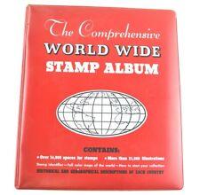 1966 Minkus The Comprehensive World Wide Stamp Album Red Book Organizer Collect