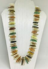 Mother of Pearl ,Agate,Tiger Eyes (gemstone)Gorgeous Necklace,Pearl 24 inch Long