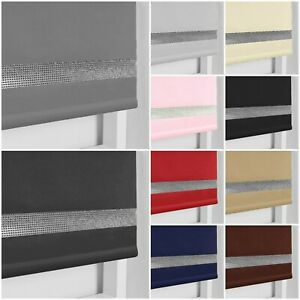 CHILD SAFE EASY FIT THERMAL BLACKOUT DIM OUT DIAMOND DIAMANTE TRIM ROLLER BLINDS