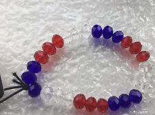 Red/White/Blue Glass Beaded Bracelet from George Asda New
