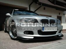E 46 98-05 M tech HM Style Front Bumper spoiler lip Chin sport pack Power skirt