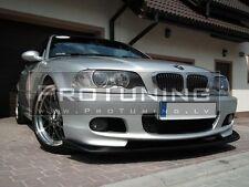 BMW E46 98-05 M tech HM Style Front Bumper spoiler lip Chin M sport pack Power