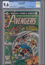 Avengers #207  CGC 9.6 1980 Marvel: First Shadowlord & Beserker! NEW CGC FRAME