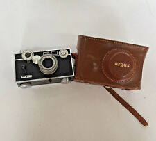 argus range finder camera and case  sold as is for parts display photo prop