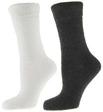 RJM 2 Pack of Ladies Winter Thermal Socks White Grey Size 4-7