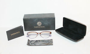 Authentic Versace 1240 eyeglass frame in Lavender Case/cloth & papers included