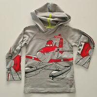 Neu Hoodie Reebok Kinder Pullover Sweatshirt Jungen Planes grau Gr. 98-140 #R3