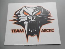 "Team Arctic Cat Orange Cathead Decal Sticker - Black Orange White 3"" 5239-723"