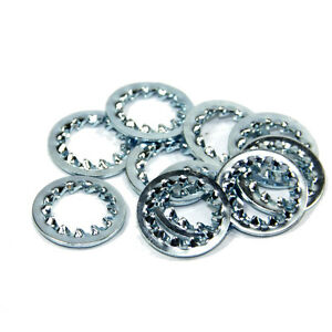 10mm Internal Teeth Shakeproof Washer Steel BZP for All-threads Pack of 10 or 20