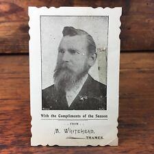 c.1900 MATTHIAS WHITEHEAD THAMES NEW ZEALAND CHRISTMAS CARTE DE VISITE CDV