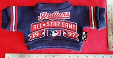 """Cleveland Indians Teddy Bear BLUE """"ALL-STAR"""" KNIT SWEATER (Clothing) MLB MINT!"""