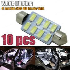 10-pc 5730 LED HID White 41mm 578 211-2 561 Bulb Car Interior Map / Dome Light C