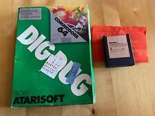 ATARI DIG DUG Commodore 64 Cartridge inkl. Bedienungsanleitung und OVP