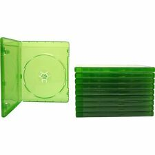10 Xbox One Translucent Green 12MM Replacement Game Cases Brand New 7Z