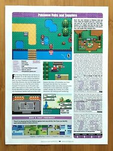 2003 Pokemon Ruby/Sapphire GBA REVIEW PAGE Print Ad/Poster Original Official Art