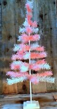 Feather Tinsel Christmas Tree Hand-Made Ornament Tree Table-Top Easter Tree