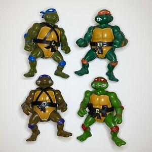 1988 Playmates TMNT Teenage Mutant Ninja Turtles Action Figures Toy, All 4