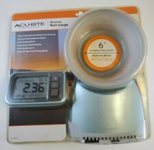 """NEW Acurite Wireless Rain Gauge with 6"""" Extra Wide Rain Collector # 072397006262"""