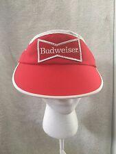 Vintage Budwesier Bud Anheuser Busch Beer Red Adjustable Visor Hat