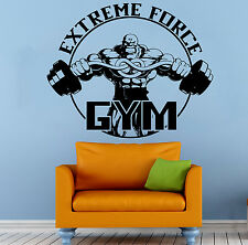 Fitness Gym Wall Decal Vinyl Sticker Sport Athletics Home Art Wall Decor (5wsed)