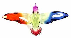 Colorful 6 Inch Hummingbird Ornament/Sun-catcher (Green/Fuschia)