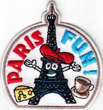 """""""PARIS FUN!"""" - IRON ON EMBROIDERED PATCH/Eiffel Tower, France, Vacation, French"""