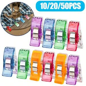Plastic Clamps Sewing Crafting Crocheting Knitting Binding Paper Clips