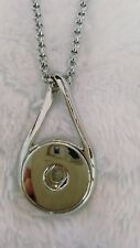 Fits Ginger Snap Button Jewelry  Charm silver infinity Necklace interchangeable