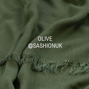 Frayed Viscose Hijab Headscarf Lightweight Shawl High Quality