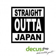 straight outta Japan // Sticker JDM Aufkleber Frontscheibe