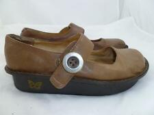 ALEGRIA PALOMA USED 37 BROWN COMFORT LEATHER FLATS/SHOES/MARY JANES/SANDALS