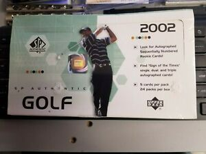 2002 Upper Deck SP Authentic Golf Hobby Box Factory Sealed