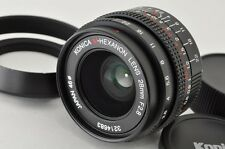Konica M-HEXANON 28mm F2.8 MF Lens for KM Mount Leica M with Hood #170514d