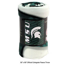 "Northwest NCAA Michigan State Spartans Fleece Throw Blanket Large Size 50"" x 60"""