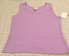 DONCASTER Size Large Lilac Sleeveless Blouse NEW with TAGS MSRP $95.00