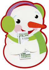 Snowman Money Grabber 6 Christmas Money/Gift Card Holders by Paper Magic