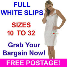 Ladies Full Under Slip Petticoat by Marlon Sizes 12-32 White 16