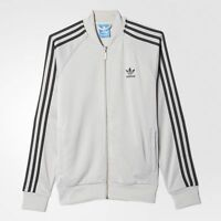 MEDIUM adidas Originals Men's  SUPERSTAR  TRACK TOP JACKET  AZ6981  GRAY / BLACK