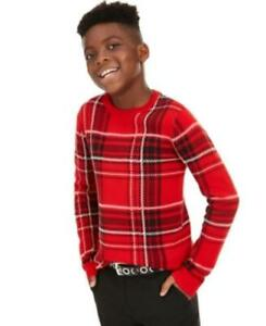 MSRP $40 Charter Club Big Boys Plaid Family Sweater Size Medium