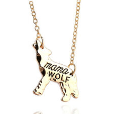 Fashion Wolf Mama Cute Animal Charm Chain Pendant Necklace Jewelry Mother Gift